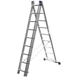 """Лестница """"СИБИН"""" 38833-09, трехсекционная, со стабилизатором, 9 ступеней"""