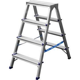 """Лестница-стремянка """"СИБИН"""" 38825-04, двухсторонняя, алюминиевая, 4 ступени"""