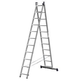 """Лестница """"СИБИН"""" 38823-11, двухсекционная, 11 ступеней"""
