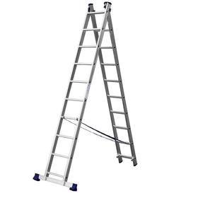 """Лестница """"СИБИН"""" 38823-10, двухсекционная, 10 ступеней"""