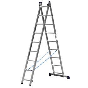 """Лестница """"СИБИН"""" 38823-09, двухсекционная, 9 ступеней"""