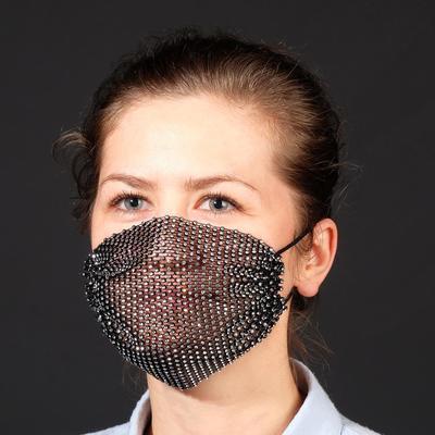 Decorative mask, semi-transparent, color white in black