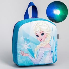 Рюкзак детский, с мигающим элементом, отдел на молнии, «Холодное Сердце», Disney