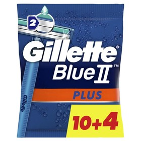 Бритвы GILLETTE BLUEII Plus одноразовые, 14шт