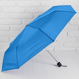 Зонт механический, однотонный, R=48см, цвет синий Ош
