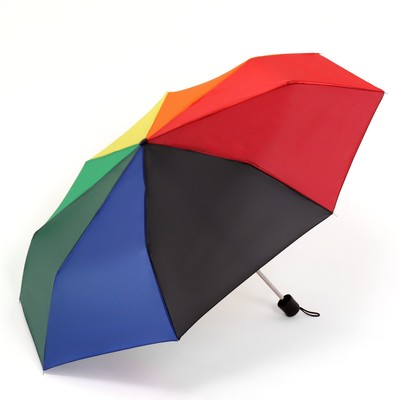 Зонт механический «Радуга», 3 сложения, 8 спиц, R = 48 см, разноцветный