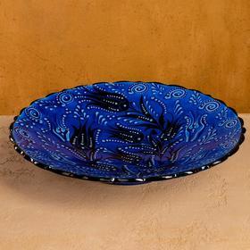 "Тарелка плоская 30см ""Синий тюльпан"""