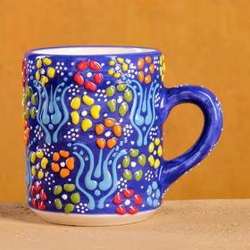 """300ml"""" Relief """" blue mug"""