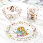 Набор посуды детский Priority «Барби», 3 предмета - фото 983291