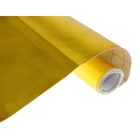 Пленка самоклеящаяся, металлизированная, золото, 0.45 х 3 м, 30 мкм