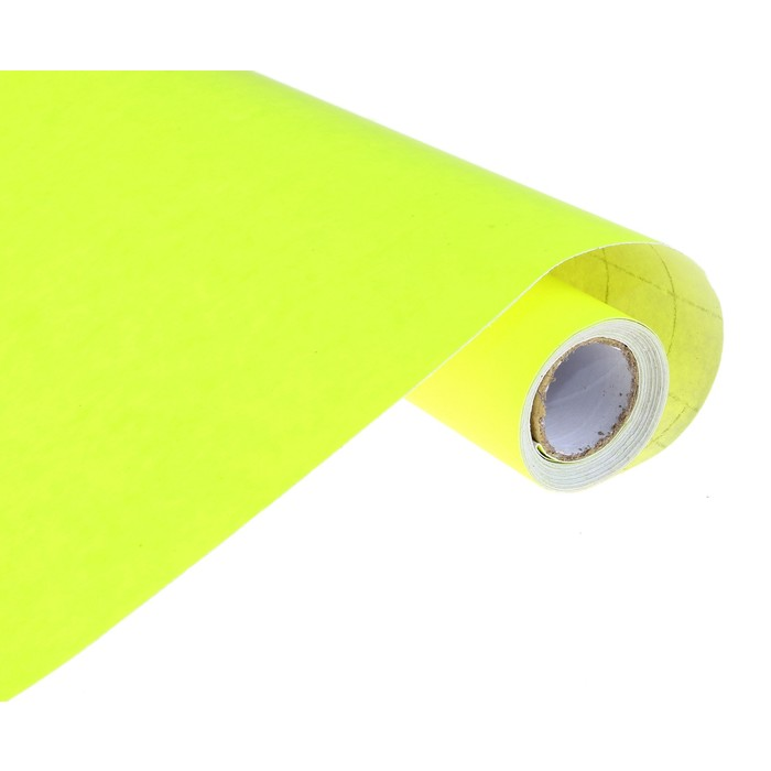 Пленка самоклеящаяся желтая 0,45м х3м 8мкр