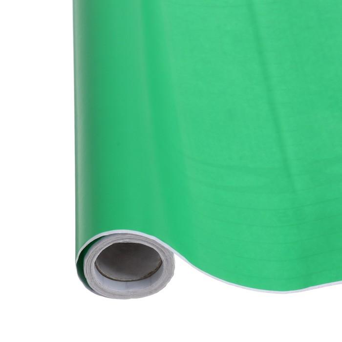 Пленка самоклеящаяся зеленая 0,45м х3м 8мкр