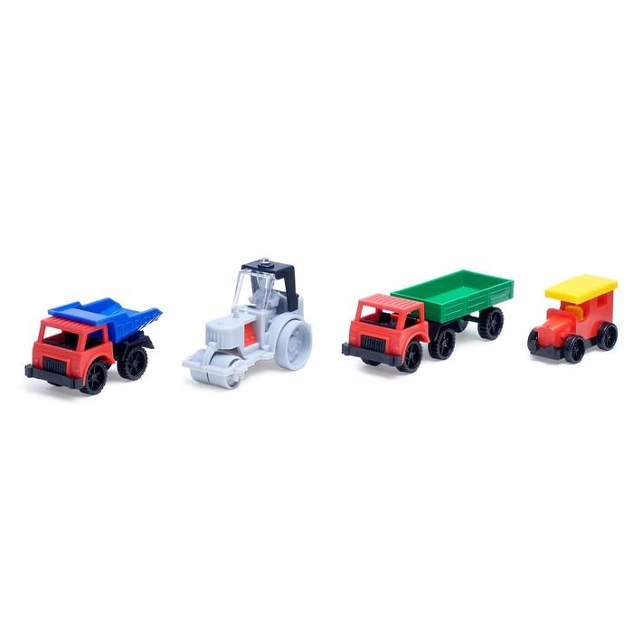 Набор машин: самосвал, каток, полуприцеп, фаэтон, МИКС - фото 1014586