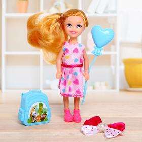 "Baby doll ""Lisa"" in a dress, with accessories, MIX"