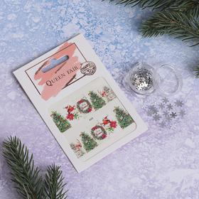 Nail art set: stickers, sequins snowflakes silver #3 package