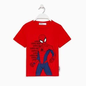"""Футболка MARVEL """"Spider man hero"""", рост 110-116 (32), красный"""