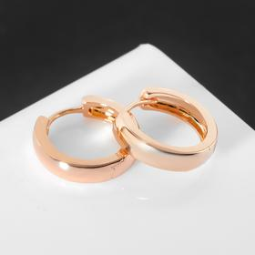 """Ring earrings """"Minimalism"""" thickened line, gold color"""