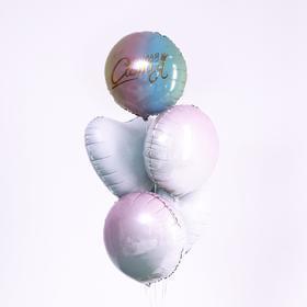 """Bouquet of balloons"""" Most most """" delicate, foil, 5 PCs."""