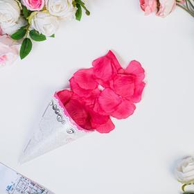 Лепестки роз, розовые, 22 х 12 см