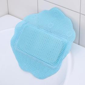 Подушка для ванны с присосками «Лотос», 33×33 см, цвет МИКС