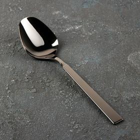 Ложка столовая «Астра», h=19,7 см, толщина 2 мм, цвет графит