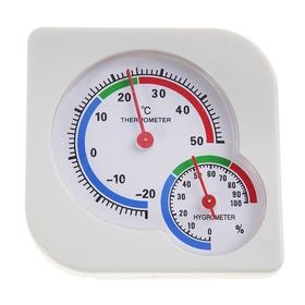 Термометр уличный, гигрометр, белый