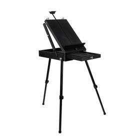 Этюдный ящик с телескопическими ножками 435х550х120 мм, цвет чёрный, Малевичъ МЛ-82 152082