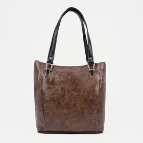 Сумка женская, отдел на молнии, наружный карман, цвет коричневый - фото 54117