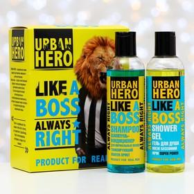 Набор подарочный Urban Hero Like A Boss: шампунь-кондиционер для нормальных волос и гель для душа