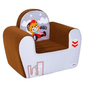 Игрушечное кресло «Гонщик», цвет шоколад