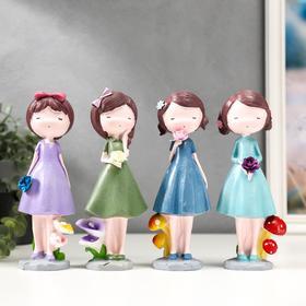 "Souvenir polystone ""Baby with a bouquet"" MIX 19, 5x6, 8x5, 7 cm"
