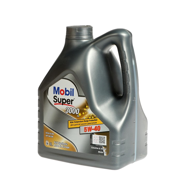 Моторное масло Mobil SUPER 3000 X1 5W-40, канистра 4 л