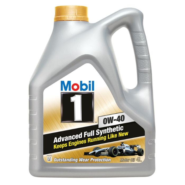 Моторное масло Mobil 1 0W-40, канистра 4 л