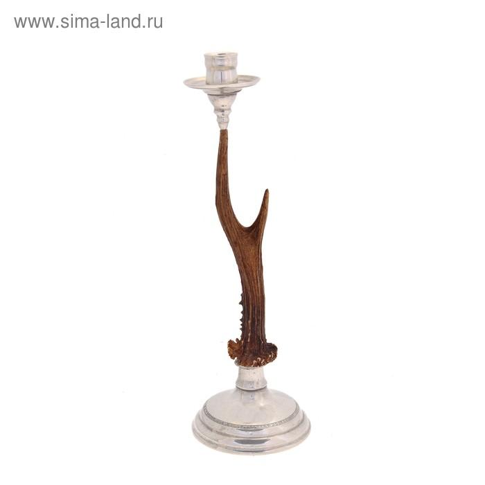 """Подсвечник на одну свечу """"Олений рог"""""""