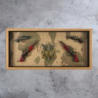 """Souvenir in a frame """"4 musket and heraldry N"""""""
