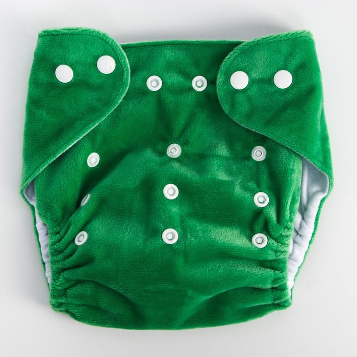 Многоразовый подгузник, плюш, цвет зеленый