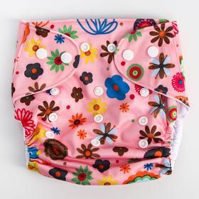 Многоразовый подгузник «Цветы»