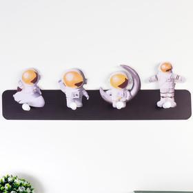 """Decorative hooks tree """"Cosmonauts"""" 15x50x4, 5 cm"""