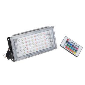 Прожектор светодиодный модульный, RGBW, с пультом, 45Вт, IP65, 220В Черный