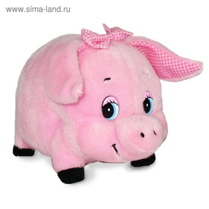 Мягкая игрушка «Свинка Дуняша с бантиком» музыкальная
