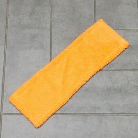 Насадка для плоской швабры Доляна, 41,5×12,5 см, 50 гр, микрофибра, цвет МИКС