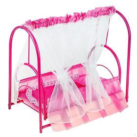 Кроватка для кукол 3, цвета МИКС