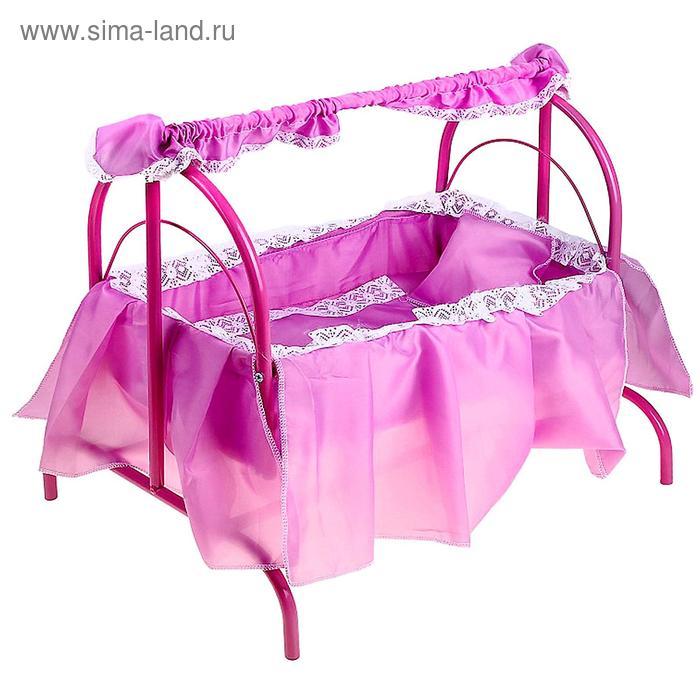 Кроватка для кукол № 4, цвета МИКС