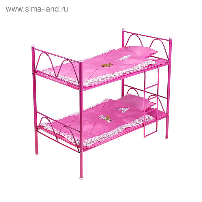 Кроватка для кукол №8 двухъярусная, МИКС