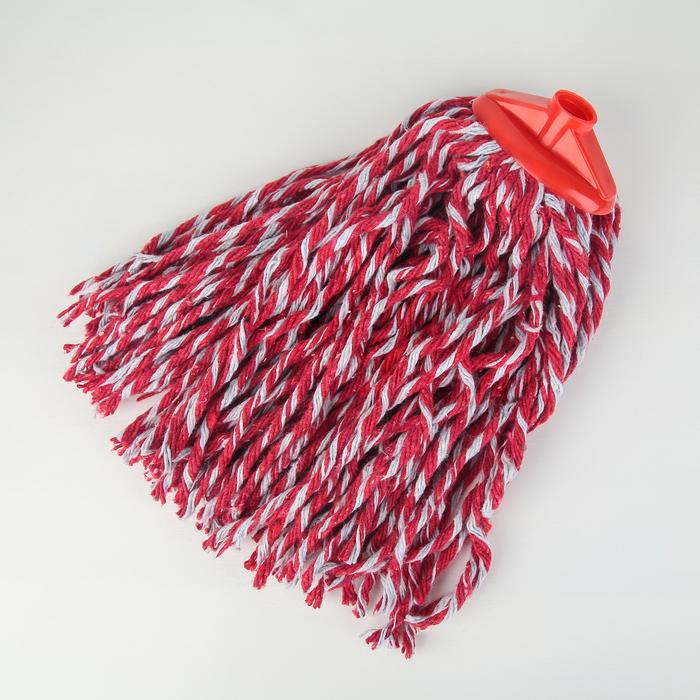 Насадка для швабры веревочная цветная, х/б 200 гр