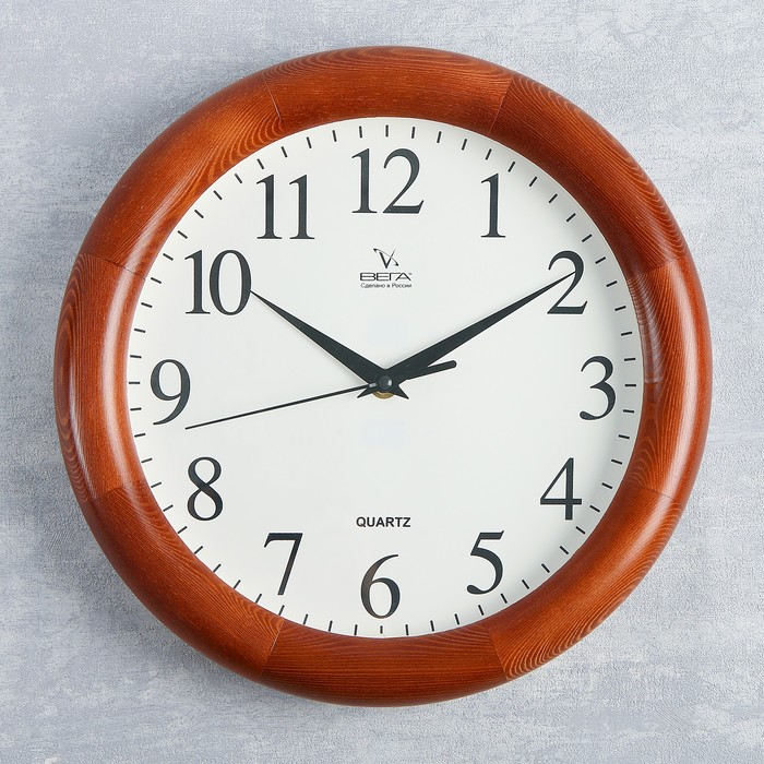 """Часы настенные круглые """"Классика"""", деревянные"""