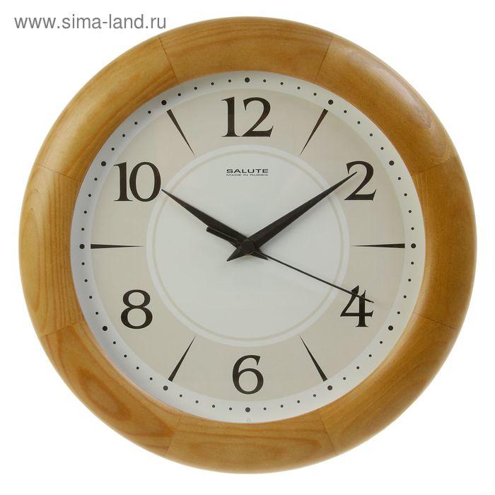 """Часы настенные круглые """"Орех"""", деревянные"""
