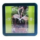 "Часы настенные квадратные ""Фламинго"""
