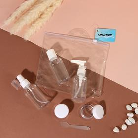 Набор для хранения, в чехле, 6 предметов, цвет белый