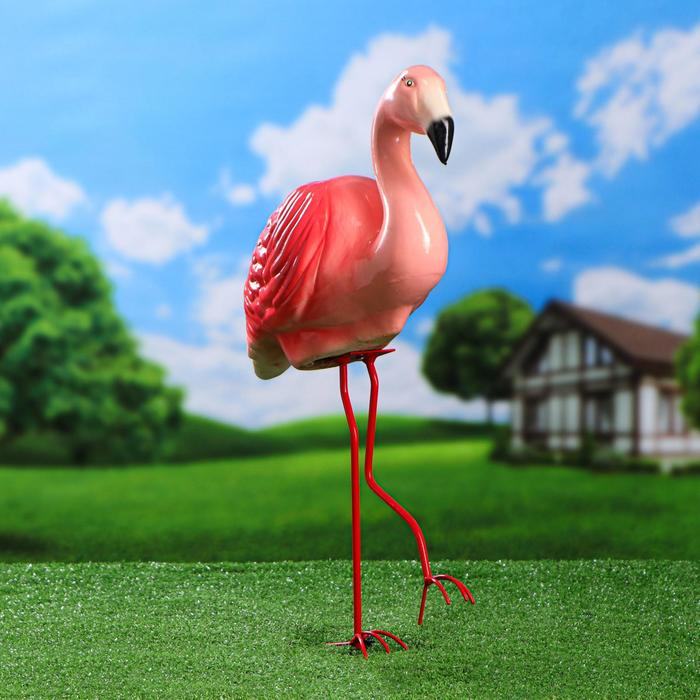 "Садовая фигура ""Фламинго"", 54 см - фото 1564136"
